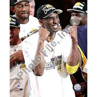 Kobe Bryant - 2010 NBA Finals Game 7 Celebration (#23) Sports Photo (8 x 10)