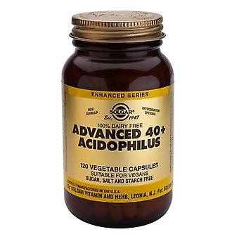 Solgar Advanced 40+ Acidophilus (Non-Dairy) Vegetable Capsules, 120