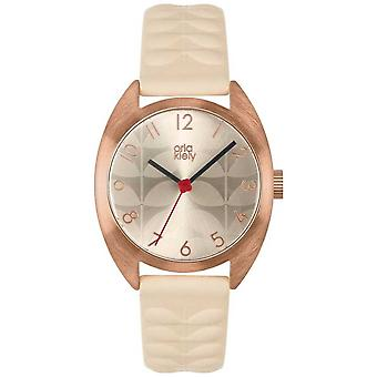 Orla Kiely | Ladies Beatrice | Cream Sun Ray Dial | Nude Strap | OK2290 Watch