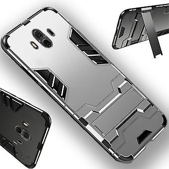 Für Apple iPhone XS MAX 6.5 Zoll Metal Style Outdoor Silber Tasche Hülle Cover Schutz Neu