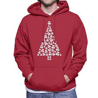 Original Stormtrooper Trooper Christmas Tree Men's Hooded Sweatshirt