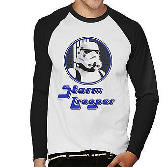 Original Stormtrooper 70er Jahre Retro Herren Baseball T-Shirt Langarm