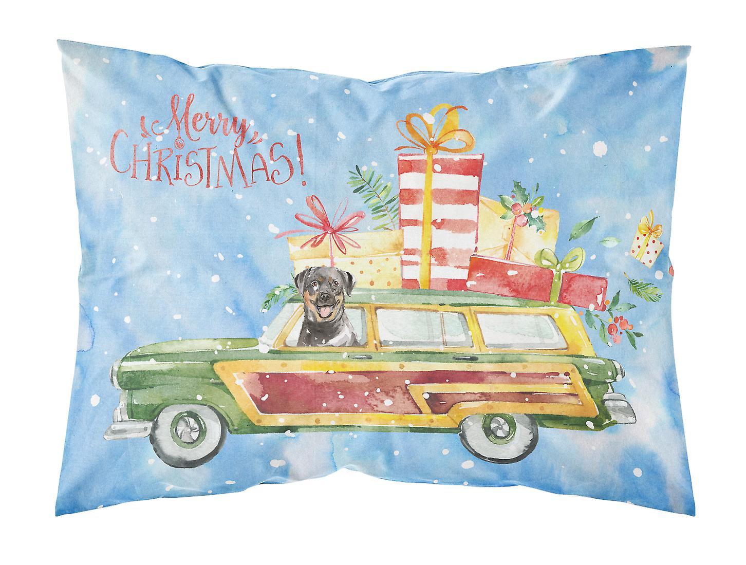 Tissu De Taie Standard Rottweiler Joyeux D'oreiller Noël OkZTPiXu