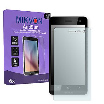 Archos 45b Helium 4G Screen Protector - Mikvon AntiSun (Retail Package with accessories)