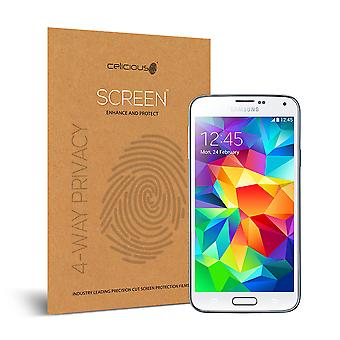 Celicious Privacy Plus 4-Way Anti-Spy Filter Screen Protector Film Compatible with Samsung Galaxy S5