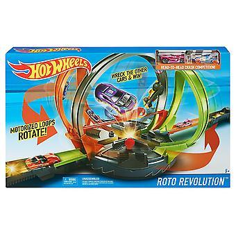 Hot Wheels Roto Revolution Track Set Absturz & FDF26 Rennen