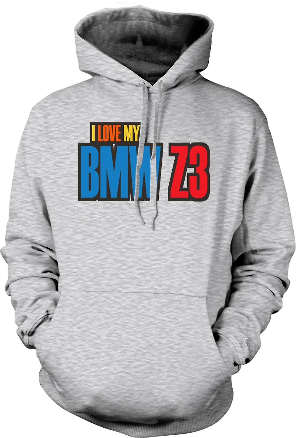 Mens Hoodie - I Love My BMW Z3 - Car Enthusiast