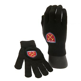 West Ham United FC Official Junior Knitted Gloves