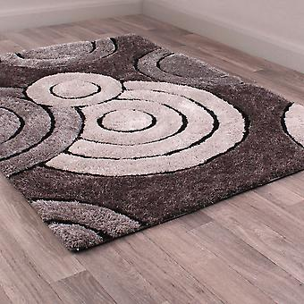 3D Spiral Rugs In Charcoal