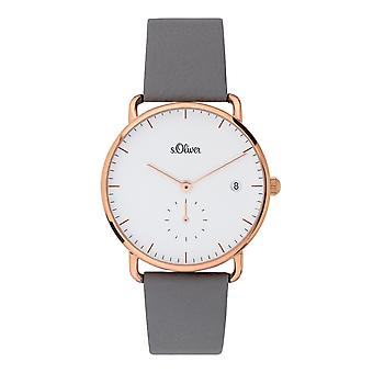 s.Oliver women's watch wristwatch leather SO-3714-LQ
