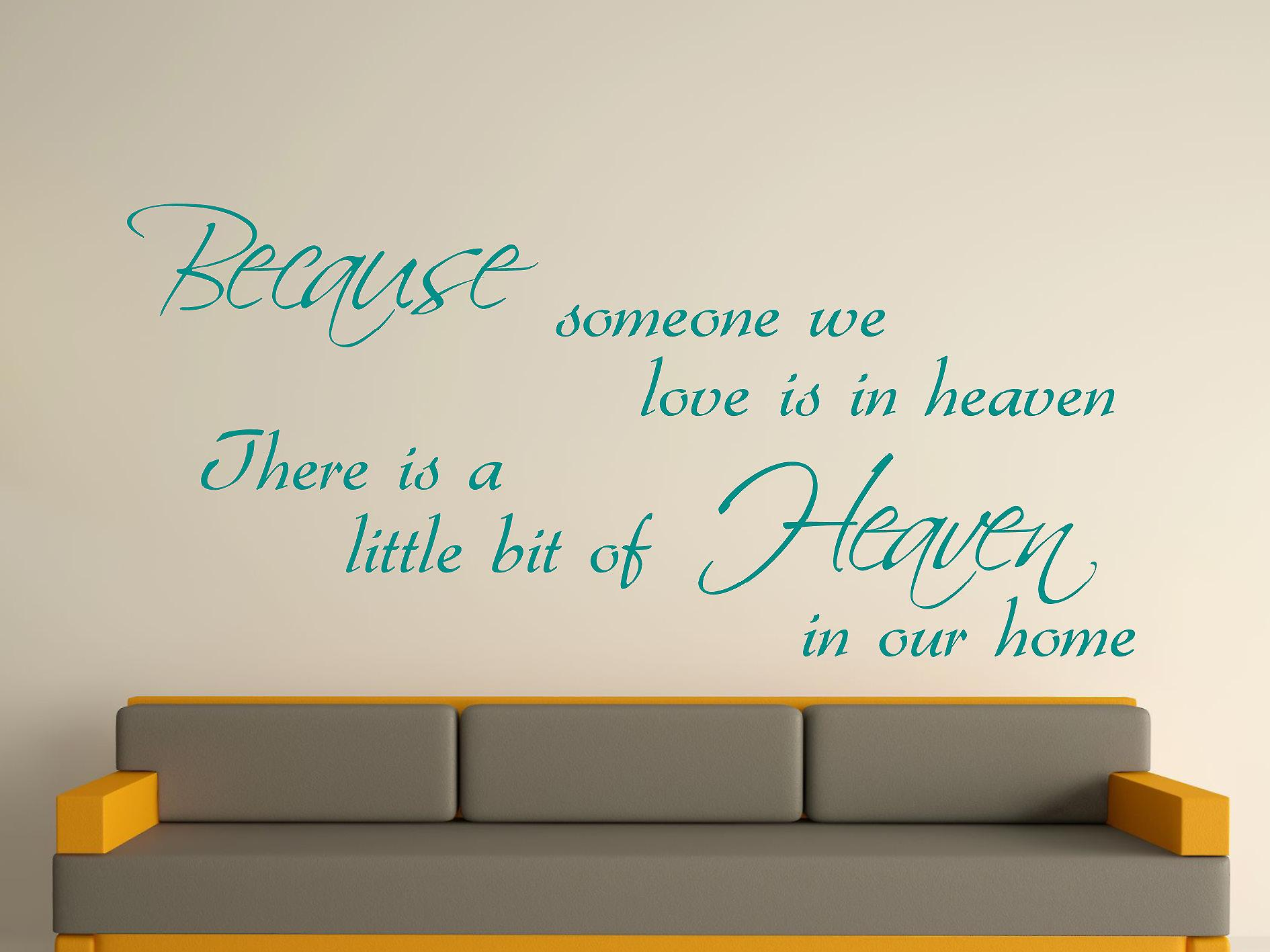 Because Someone Wall Art Sticker - Aqua Green