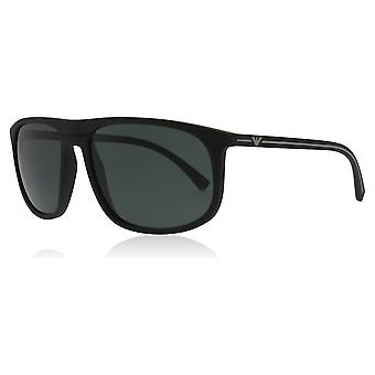 Emporio Armani EA4118 506371 Black Rubber EA4118 Square Sunglasses Lens Category 3 Size 59mm