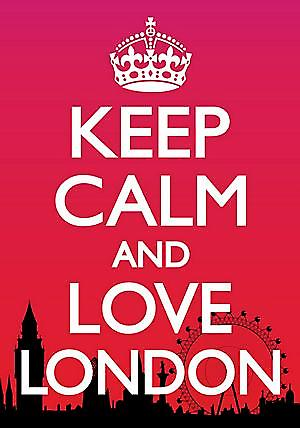 Keep Calm & Love London steel fridge magnet  (dm pt)