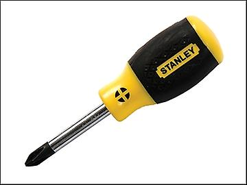 Stanley Tools Cushion Grip Screwdriver Phillips 2pt x 45mm Stubby