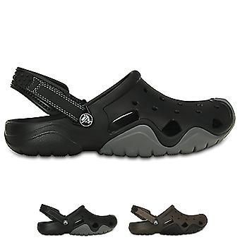 Mens Crocs Swiftwater täppa gummi lätta sommar sandaler