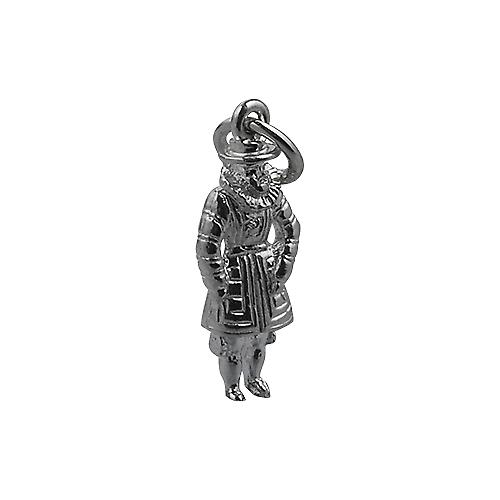 Silver 18x8mm Beefeater Pendant or Charm