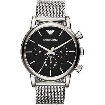 Emporio Armani AR1811 - horloge zilver zwarte man