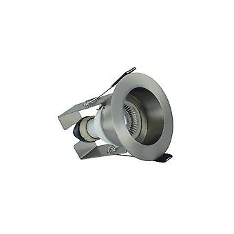 Integral - LED Fire Rated Downlight Spotlight Recessed Insulation Guard / GU10 Holder Satin Nickel - ILDLFR70E004