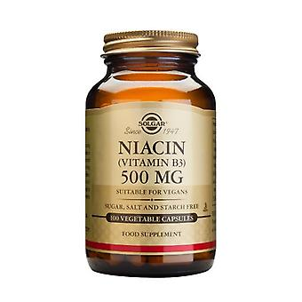 Solgar Niacin 500 mg Vegetable Capsules (Vitamin B3) , 100