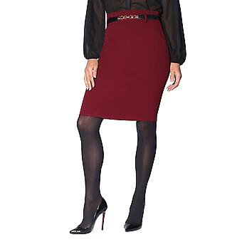 KRISP  Womens Ladies Belted Fitted Stretch Pencil Midi Skirt Formal Business Work Party