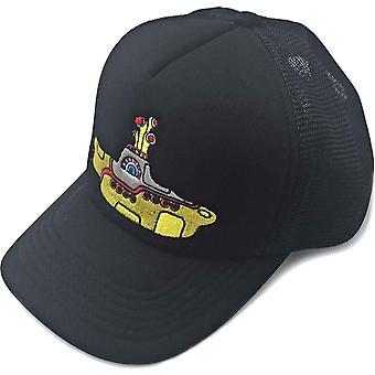 The Beatles Baseball Cap Yellow Submarine Logo nouveau camionneur officiel Black Mesh