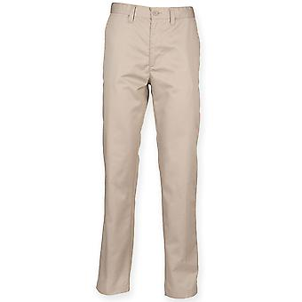 Henbury - 65/35 Flat Fronted Chino Mens Trousers