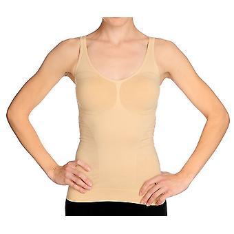 Slim 'N Lift V-Neck Stretch Top Beige Shaper  C410206