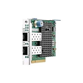 Hp 727054-b21 network adapter with 2 port sfp + 10,000 mbps pci express interface