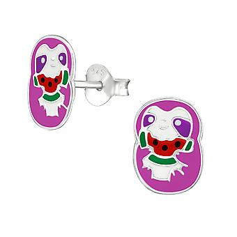 Sloth - 925 Sterling Silver Colourful Ear Studs - W38503X
