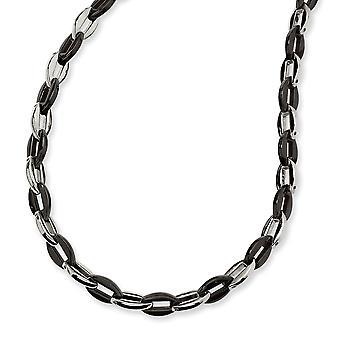In acciaio inox lucidato IP nero-placcato collana fantasia astice chiusura nero colore IP - 24 pollici