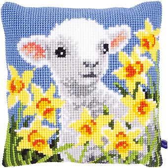 Lamb Cushion Cross Stitch Kit-15.75