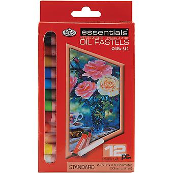 Oil Pastels Small 12 Pkg Assorted Colors Oilpa512