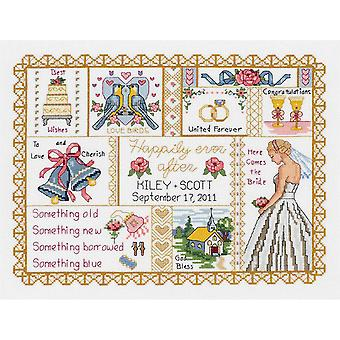 Wedding Collage Counted Cross Stitch Kit 13 1 4