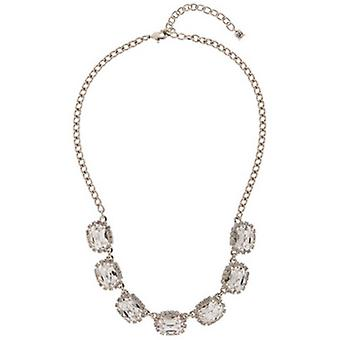 Martine Wester Crystal Oval Stoned Necklace