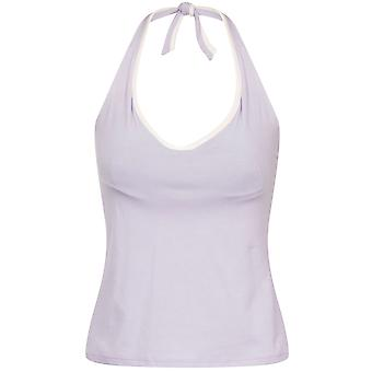 Lepel 94404 Purple/Cream Womens Halter Neck Built In Bra Vest / Top Size