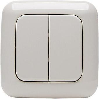 Free Control Wireless wall-mounted switch 4-channel Cream-white