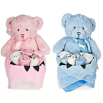 Zwillinge - Rosebud Teddy Box - Candy Stripe