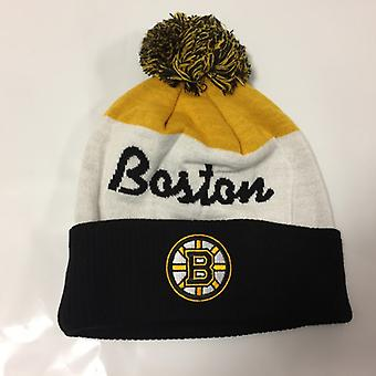 Reebok NHL Cuff Pom Winter Hat Boston Bruins