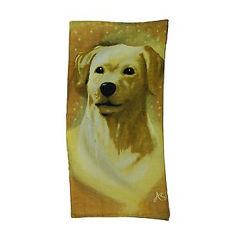 Golden Labrador velours strandlaken 30 X 60 in.