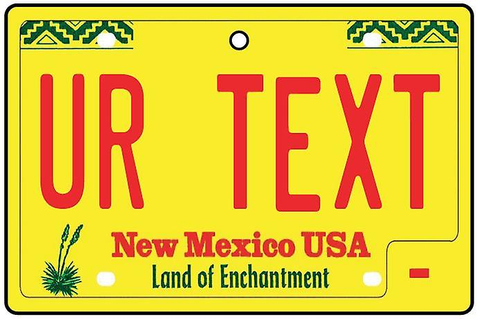 Personalised New Mexico Numberplate Car Air Freshener