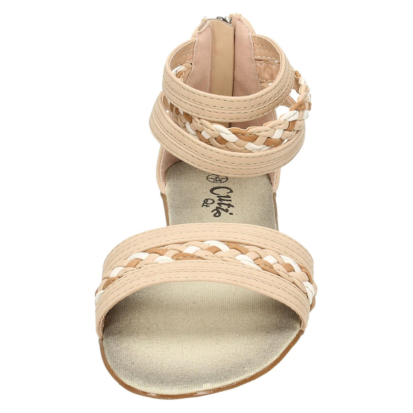 Girls Cutie Sandals with Ankle Cuff H0105