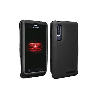 OEM Verizon Snap-On Silicone Cover Case for Motorola Droid 3 (Black) (Bulk Packa