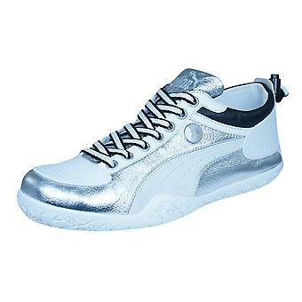 Puma Mihara Yasuhiro MY 44 Metallic Mens Leather Trainers / Shoes - Silver