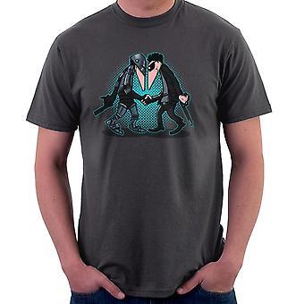 Maskine Vs maskine RoboCop Vs Terminator Spy Vs Spy mænd T-Shirt