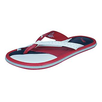 Puma Porter Womens Leather Flip Flops / Sandals - Red