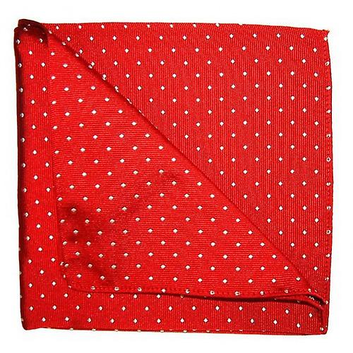 Tyler and Tyler Spots Pocket Square - Red/White