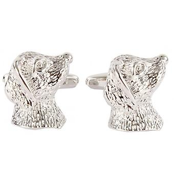 David Van Hagen Dog Head Cufflinks - Silver
