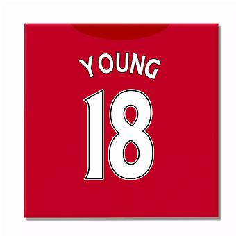 2016-2017 man United stampa tela (Young 18)