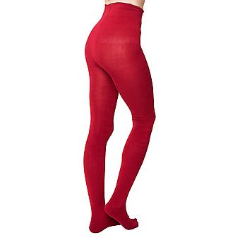 Charlotte women's super-soft warm bamboo tights in ruby    By Thought