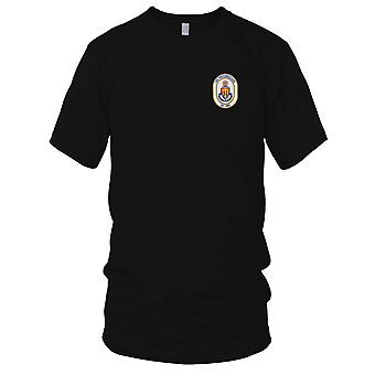 E.U. da Marinha USS DD-980 Moosbrugger bordada Patch - Mens T-Shirt
